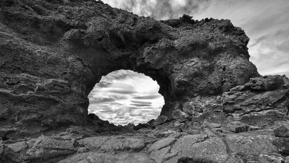 Dimmuborgir are incredible lava formations in the North of Iceland